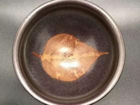 国家级大师-孙建兴,精品柿红木叶盏,口径9高5,标准九五至尊型。