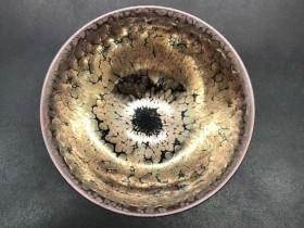 李左文,紫金盏,口径9.8高5.5