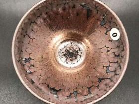 李左文师傅,精品紫金油滴盏,口径9.1高4.8