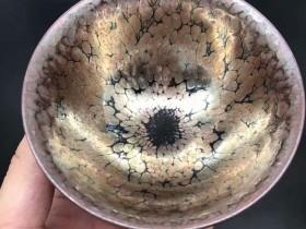李左文师傅,紫金大油滴,口径9.6高5.5