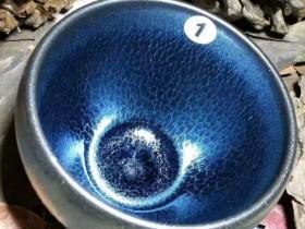 翁书杰蓝麒麟鹅蛋杯:7*5.5,深邃幽蓝。