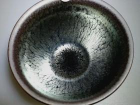 沐仙生束口油滴:口径8.5高5.3