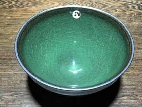 龙窑柴烧作品:翡翠绿冰裂纹! 范永寿师傅作品!