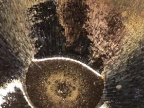 乾窑 吴兴乾师傅 仿建盅杯 滴状毫 银光挂釉 直径9.4 高5.7