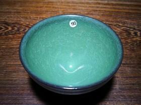柴烧翡翠绿精品~范永寿师傅作品 口径9.3高5.3
