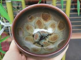 很独特的一只茶盏 口径8.5高7