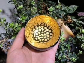 铁胎 刻金釉——李昌海制