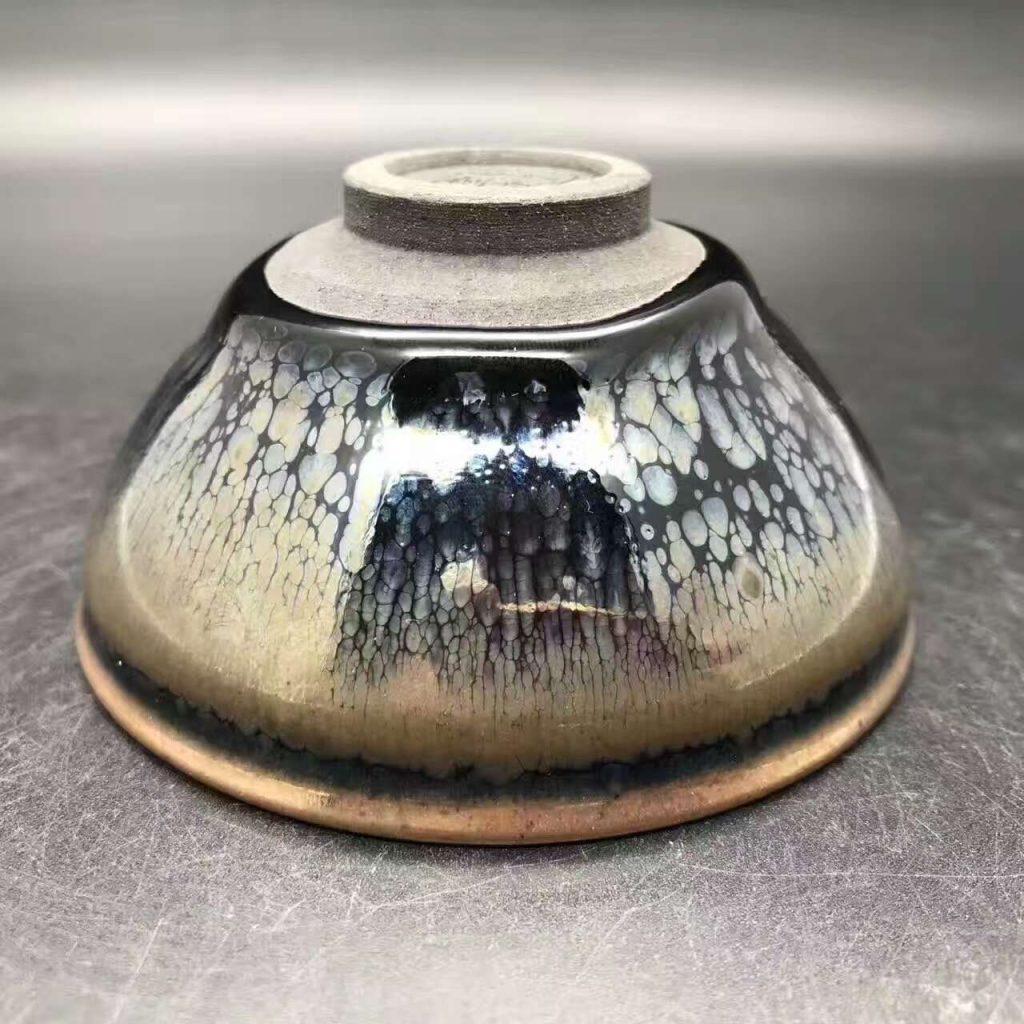 卢刚师傅,精品玻化油滴盏,口径9高4.5