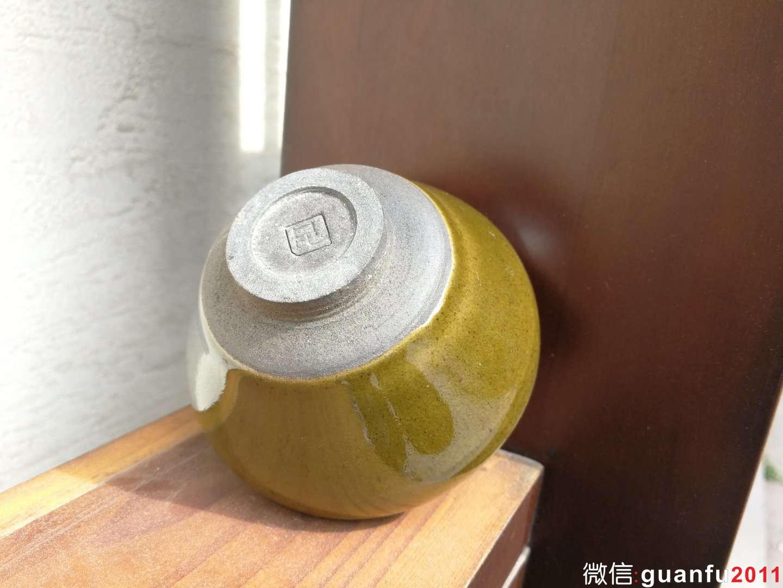 孙福昆 柴烧抹茶绿:口径8.5*5