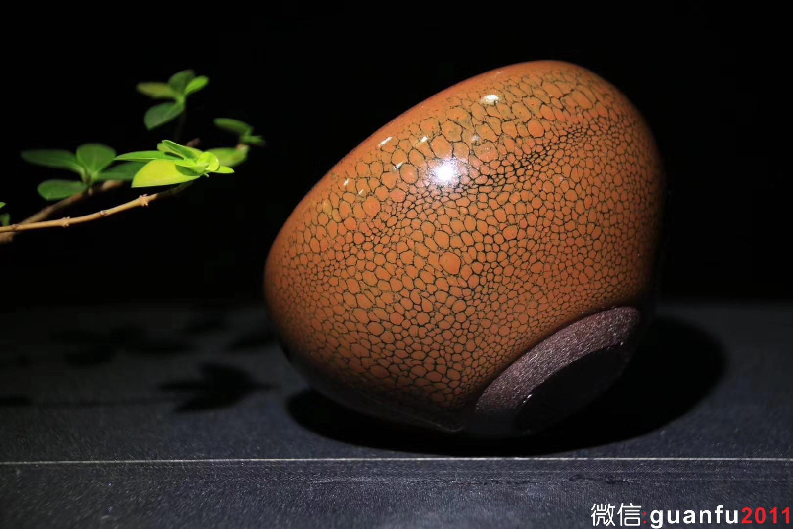 陈叶琦老师作品:禅定钵、鹧鸪斑,8.5cm 5.7cm