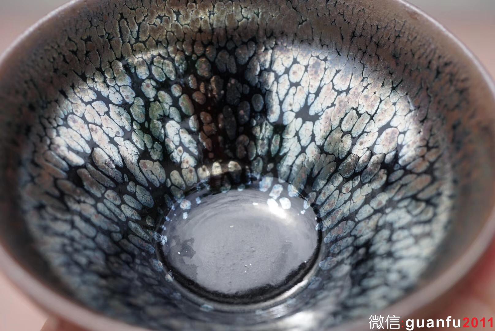 建盏泰斗 国家级大师李达老师 作品  口径8.7高4.7公分