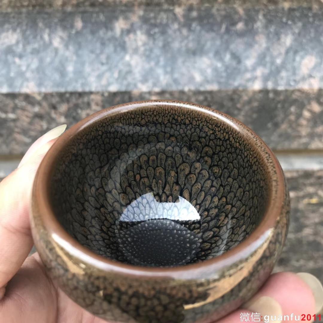 陈大鹏老师作品:鹧鸪斑、蛋杯,完美无瑕精品。