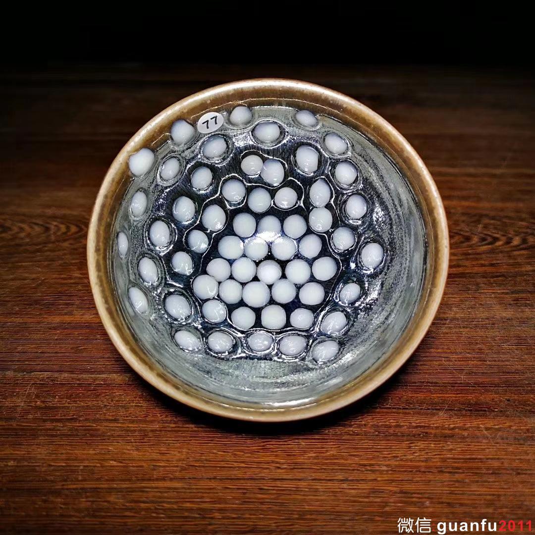 李细妹师傅,银毫珍珠斑,口径9.3高5.6,该款已停烧。
