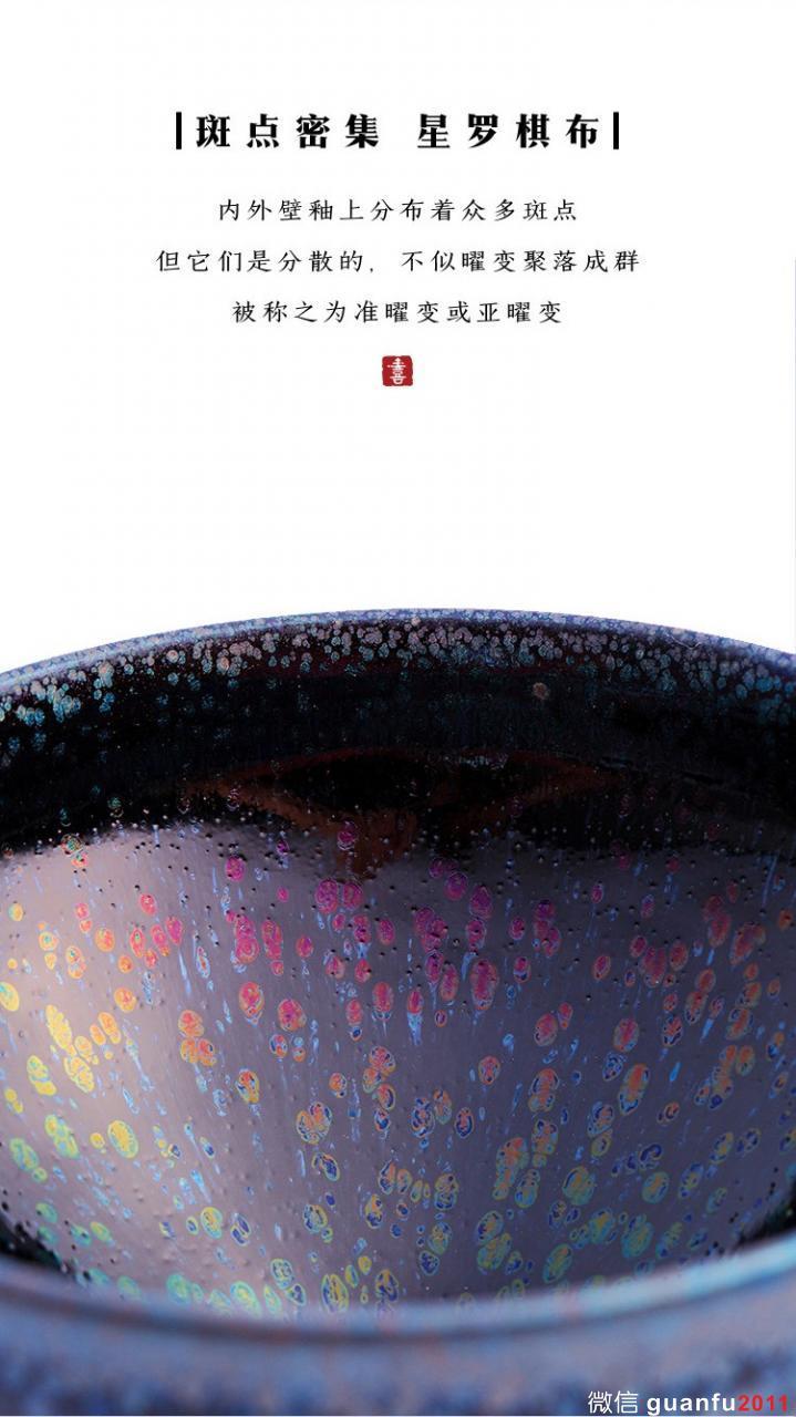 新作发布丨陆金喜黑釉彩滴建盏·矿世奇彩