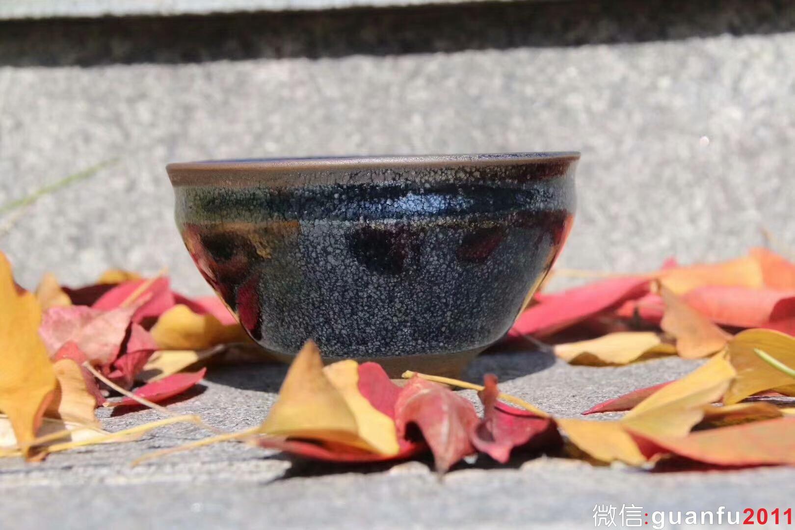 国大师 孙建兴老师  早期 小束口 9.5囗  油滴茶盏  收藏品