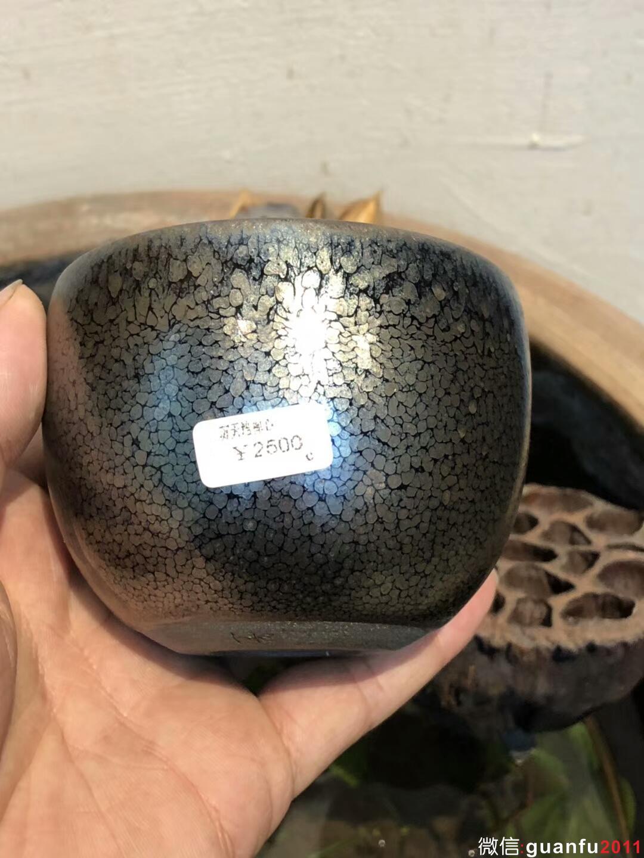 端起的是江山,放下时即江南 作者:苏天培 作品:星光油滴/限量版(禅心) 口径:8.2cm*6.4cm