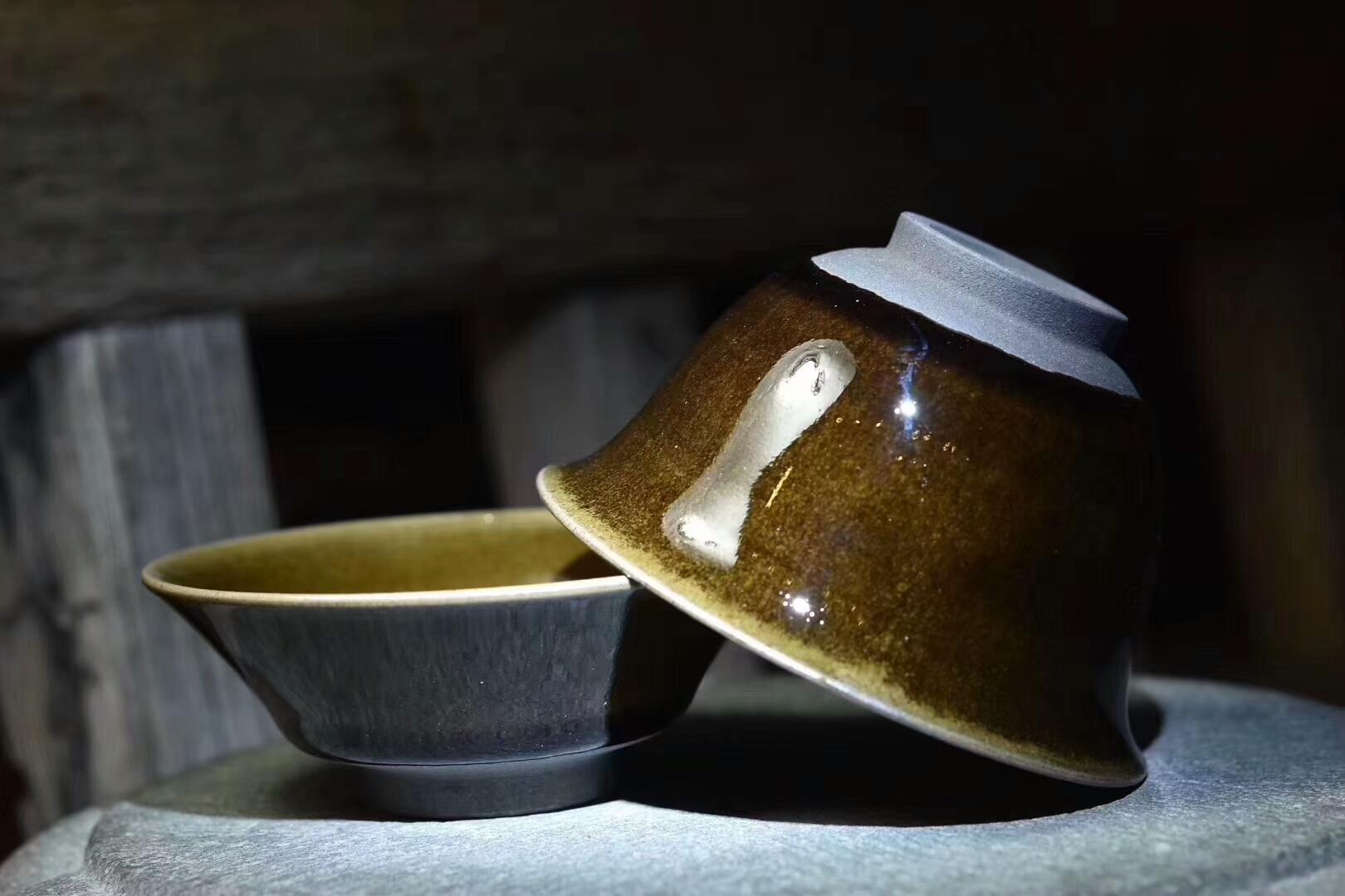 已合盖碗 - - 兰亭序 李光熙作品  手工制作 合则盖碗 分则三杯