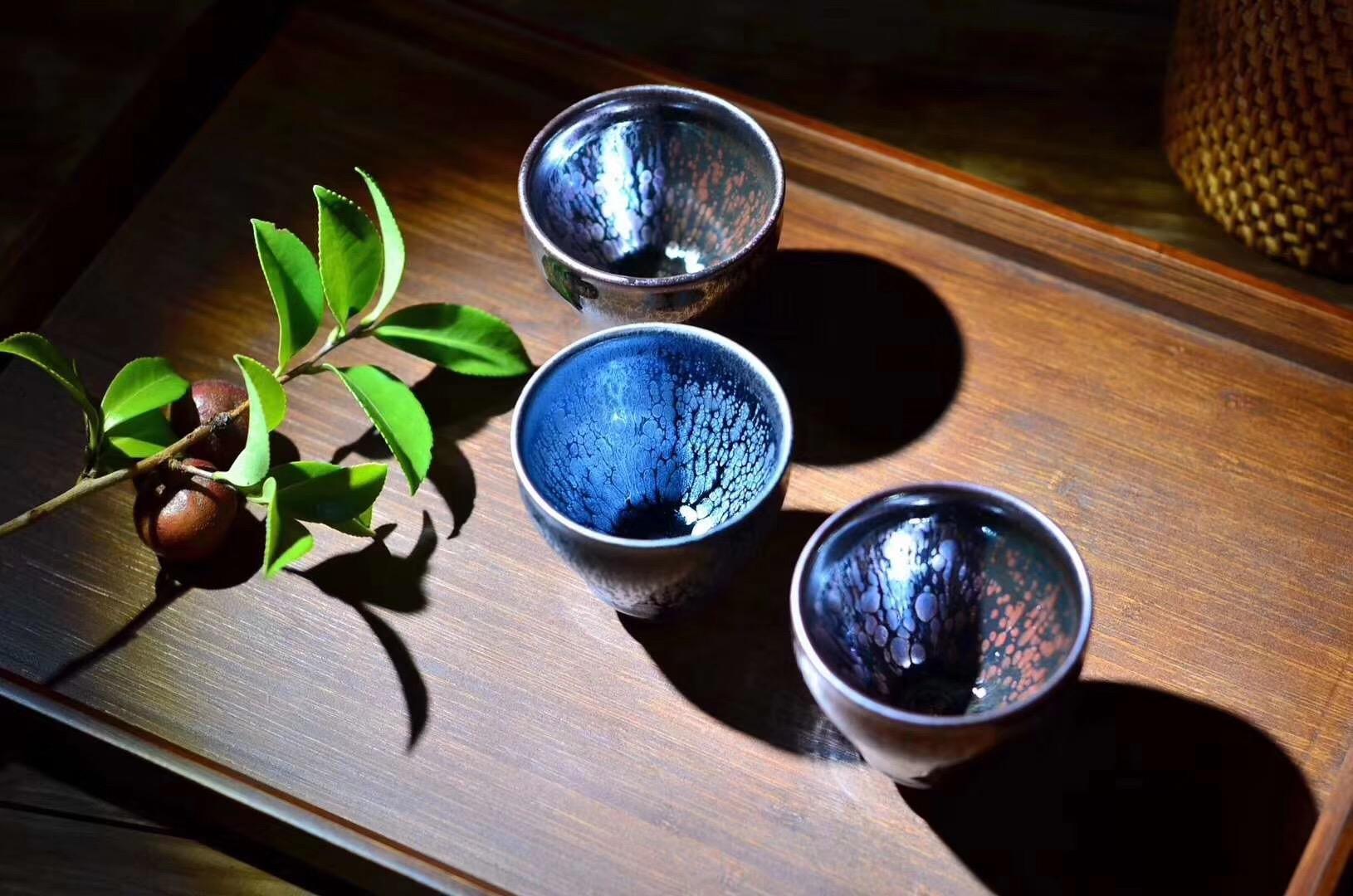 《月如歌》 一口盏  规格:6.2*5.6cm 现货供应  中秋特供50套 王羽芹老师作品