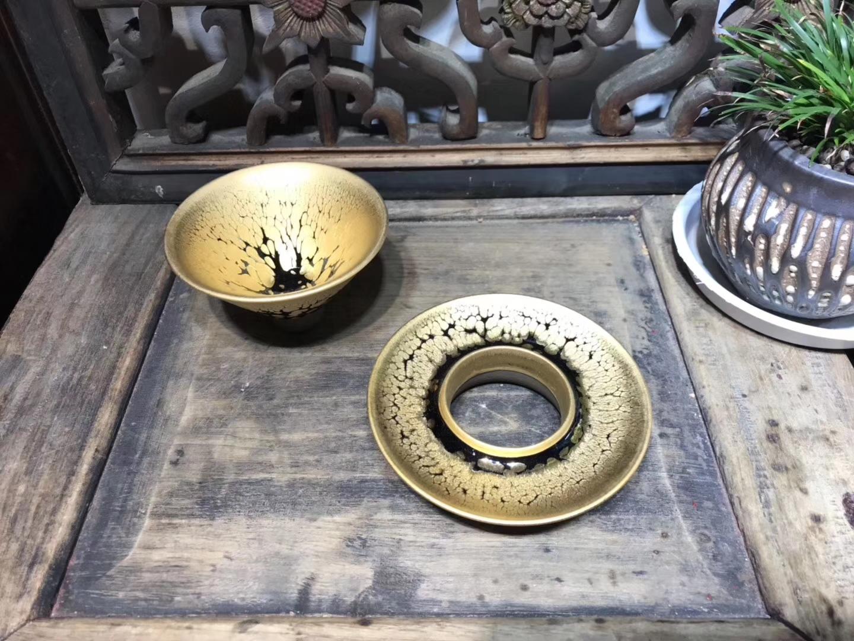 金油滴-—-茶席中的一抹亮色  女匠/张静老师   金油滴系列 作品