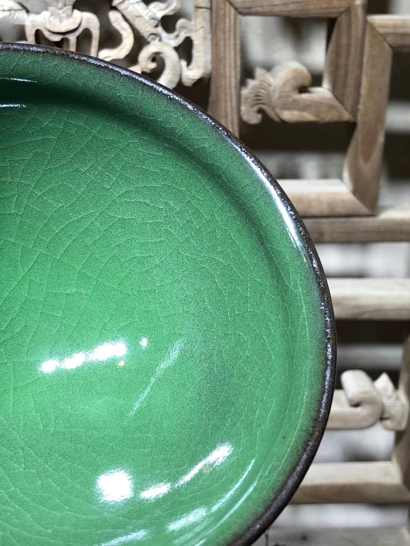 翡翠绿-龙窑柴烧第一人  范永寿先生 (收藏品)大束口 纯正铁胎 12/7